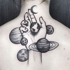 Image about black and white in Tattoos/Tatuajes by Amy Dream Tattoos, Tattoos, Space Tattoo, Future Tattoos, Body Art, Cute Tattoos, Sleeve Tattoos, Hand Tattoos, Tattoo Designs