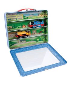 Little adventurers tote all of their chugging choo-choos in this charming case. Constructed form durable materials and featuring a convenient handle and Thomas the Tank Engine graphics, it's the storage solution to a locomotive-littered floor.