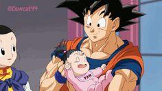 Goku, Chichi, and Pan