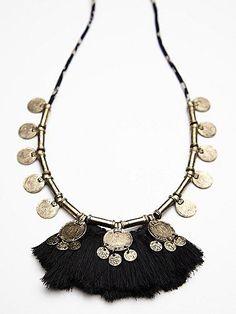Fringe Coin Necklace $58