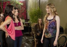 Still of Skyler Samuels, Melanie Kannokada and Floriana Lima in The Nine Lives of Chloe King