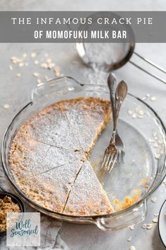 Momofuku milk bar's crack pie definitely lives up to the hype! the star of the show? the oat cookie crust! Pie Recipes, Baking Recipes, Dessert Recipes, Recipies, Baking Ideas, Dessert Ideas, Vegan Recipes, Oat Cookie Recipe, Oat Cookies