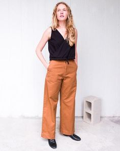 ESBY VAL TWILL CROPPED PANT / CLAY