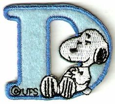 Amazon.com: Snoopy ABCs Alphabet Letter D Iron On / Sew On Patch: Everything Else