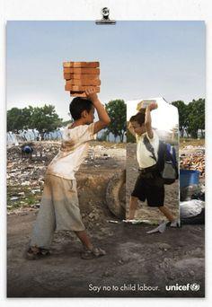 No al trabajo infantil - Unicef