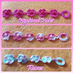 Miyuki&CrochetRosaes:    PULSERAS CROCHET FLOR. Nueva colección Primaver...