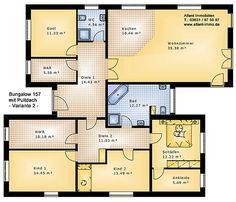 Hauspläne einfamilienhaus neubau  Schwedenhaus SkandiHaus 1-geschossig 144 Grundriss 144-7 ...