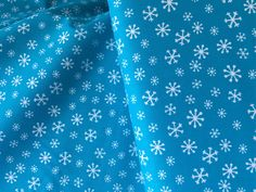 Blue Snowflake Cotton Fabric from AE Nathan