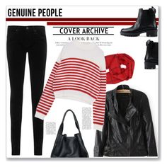 """GENUINE PEOPLE"" by amra-mak ❤ liked on Polyvore featuring AG Adriano Goldschmied, RED Valentino, christopher. kon, women's clothing, women's fashion, women, female, woman, misses and juniors"