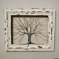 Metal Tree Wall Art, Wire Trees, Wire Weaving, Wire Crafts, Bending, Burlap Wreath, Fun Things, Crafts To Make, Projects To Try
