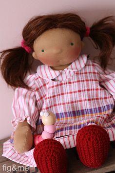 Serafina, a handmade cloth doll