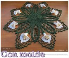 Delicadezas en crochet Gabriela: Carpeta con diseño de calas