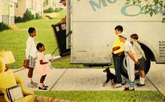 New Kids in the Neighborhood, 1967,  Norman Rockwell