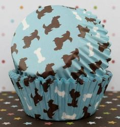 Pups n Bone Standard Cupcake Liners by CakeWithLove on Etsy