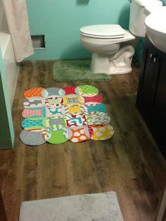My Quilt Journal: Bath mat... Or baby Mat?