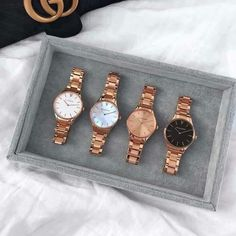 Fancy Watches, Trendy Watches, Gold Watches Women, Cute Watches, Rose Gold Watches, Elegant Watches, Beautiful Watches, Stylish Jewelry, Jewelry Accessories