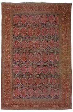 DABIR KASHAN CARPET  Central Persia, First Quarter 20th Century  Approximately 16 ft. 1 in. x 10 ft. 6 in. (490 x 320 cm.) I Christie's Sale 1682