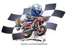 Dirtbike cartoon #motocross #dirt #bike #cartoon #artwork