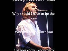 Throwing It All Away (with Lyrics)  - Genesis