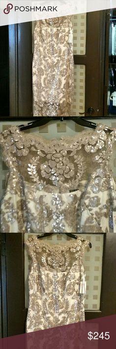 NEW Tadashi Shoji Gorgeous Dress! Stunning beautiful and slimming and elegant! Tadashi Shoji Dresses