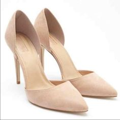 """SOLD OUT IN STORE - BRAND NEW NUDE PUMPS! Femme, chic, and polished, these pumps are everything you could want in a heel and more. Their smooth faux suede exterior and pointed toe makes them effortlessly luxe (read: they go from workweek sophistication to weekend sultriness without a hitch). Padded insole Textured outsole Upper: 100% polyester; Insole & Lining: 100% polyurethane; Outsole 1: 100% PVC; Outsole 2: 92% cotton, 5% rayon, 3% polyester 4.5"""" heel height, 3"""" shaft height Forever 21…"""