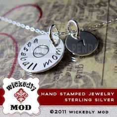 Hand Stamped Jewelry  Personalized Necklace