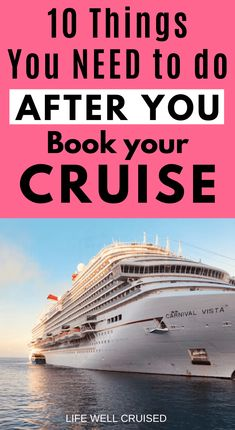 The most important you need to take once you're booked on your cruise. This 10 step guide will help you to make sure you know everything you need, before you board your cruise ship. Alaska Cruise Tips, Cruise Packing Tips, Cruise Travel, Cruise Vacation, Alaska Trip, Europe Packing, Traveling Europe, Vacation Deals, Backpacking Europe