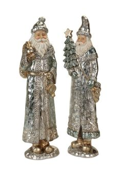 Santa #oldworld #antique #silver #winter #Christmas