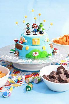 birthday Mario cake
