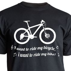 Nukular T-Shirt Motiv I want to ride my bicycle  MTB Trikot Fahrrad Mountainbike
