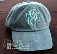 5affde96e44 Monogrammed Baseball Cap for Ladies Pigment by BoutiqueByTheCreek. Perfect  Christmas present for my mom!