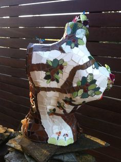 """""""Mother Nature"""" Another perspective of my Mosaic Mannequin."""