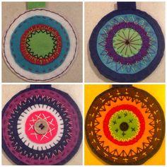Mandala. Felt. Circle