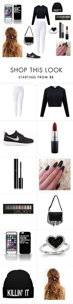 """Fall"" by emmasartorius on Polyvore featuring NIKE, MAC Cosmetics, Chanel, Forever 21 and Kevin Jewelers"