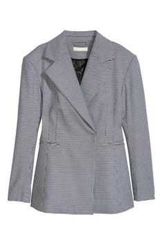 """""""dogtooth patterned"""" fitted blazer, HM."""