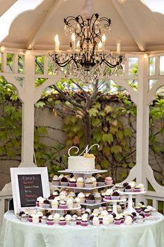 What a fabulous cupcake dessert display for a wedding! Jason Burns