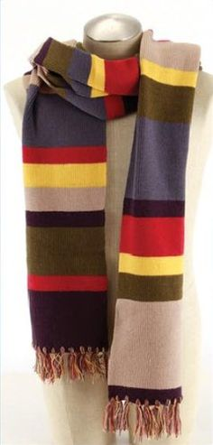 Fourth Doctor Who Deluxe Twelve Foot Scarf - A full twelve feet long, 9″ wide, with multi-colored tassels at the ends. Great for fans of Doctor Who, and especially of the original series, and most especially of Tom Baker's famously long-scarved incarnation. - http://geekarmory.com/doctor-who-fourth-doctor-deluxe-twelve-foot-scarf/