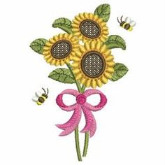 Sunflowers 05 machine embroidery designs