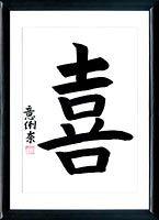 Kanji Joy. Japanese calligraphy Joy