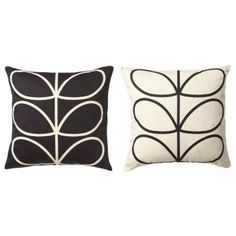 Orla Kiely Linear Stem Cushion Slate Blue