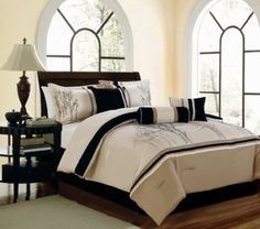 Amazon.com: 11 Piece Queen Sanger Embroidered Bed in a Bag Set: Bedding & Bath  100