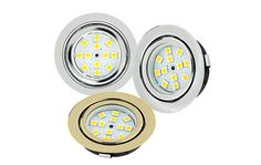 Recessed LED Puck Lights - 12 LED - 20 Watt Equivalent: Available in Chrome, Brushed Nickel, & Polished Brass Led Puck Lights, Boat Lights, Recessed Downlights, Led Recessed Lighting, Deco Led, Led Lighting Solutions, Cabin Lighting, Residential Lighting, Used Solar Panels