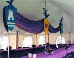 Love the bunting! Good way to decorate a plain wall. #Kingdom #Rock #VBS