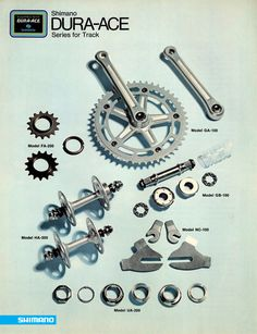 The Shimano Dura Ace Series for track, from the early 80's.