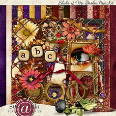 Shades Of Me Broken Page Kit By Miki @ Scrapbookgraphics.Com