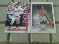 14 cleveland indians baseball cards lot #1 jim thome/manny ramirez.