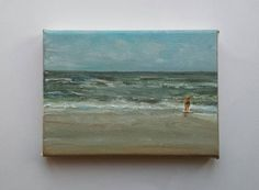 Little seascape with woman