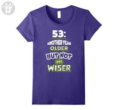 Womens 53rd Birthday Gift Idea for Men - 53 Year Old T-Shirt Small Purple - Birthday shirts (*Amazon Partner-Link)
