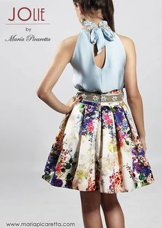Party Dresses by María Picaretta - Dresses for Teens Girls Dresses Sewing, Dresses Kids Girl, Kids Outfits Girls, Dresses For Teens, Girl Fashion, Fashion Dresses, Casual Formal Dresses, Skirt Outfits, Baby Dress