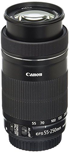 <p>The Canon EF-S 55-250mm f/4-5.6 IS STM telephoto zoom lens is a dream come true for photographers and videographers looking to add versatility and range to their lens collection. Compact and lightweight with Optical Image Stabilizer for up to 3.5 equivalent stops of shake correction, it extends the camera's reach significantly, capturing sharp images of faraway objects, even when handheld. It features Canon's amazing STM stepping motor and a newly designed high-speed CPU...